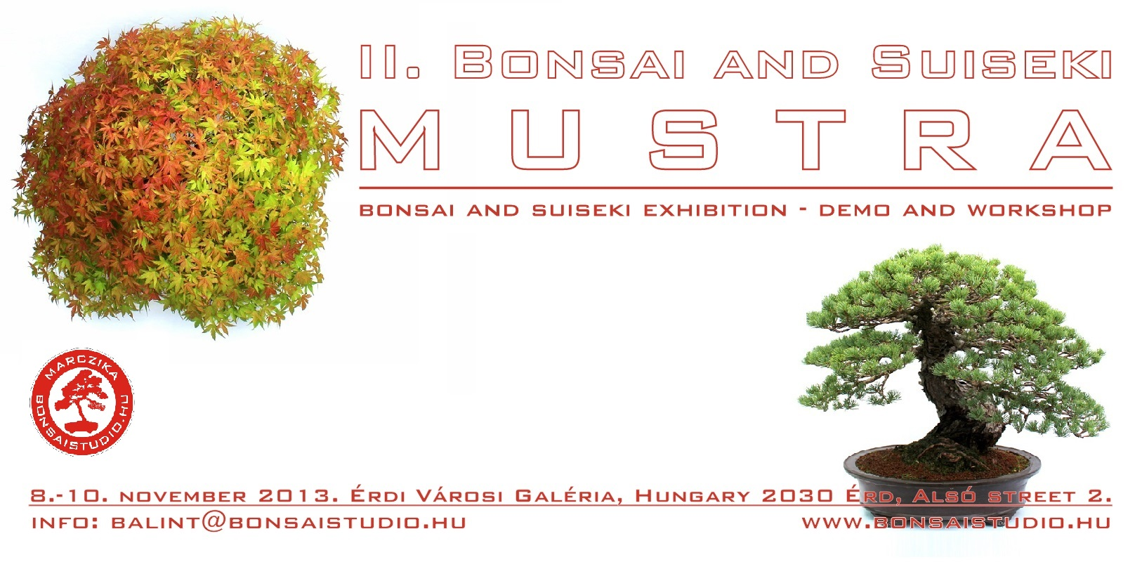 bonsai and suiseki mustra bonsaj and suiseki exhibition hungary erd marczika bonsai studio